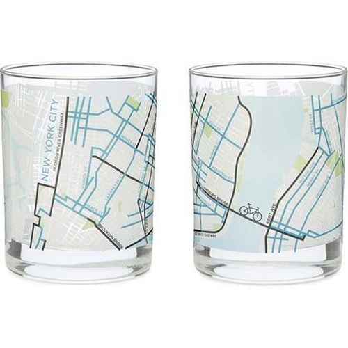 City Bike Map Glasses | Chicago Gifts