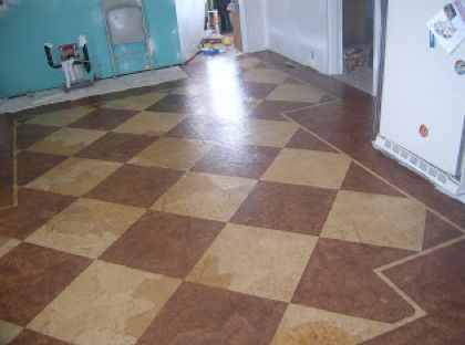 50+ Things to Make From Paper Bags including this PAPER BAG FLOORING PROJECT~