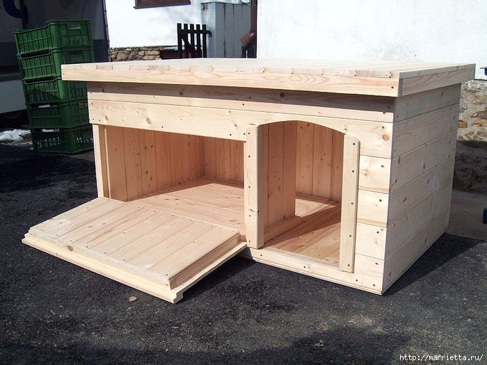 Мебель своими руками. БУДКА ДЛЯ СОБАКИ (23) (700x525, 336Kb)