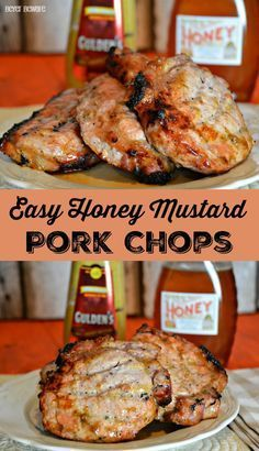 Easy Honey Mustard Pork Chops are a quick and easy pork chop recipe that can be grilled or baked for a weeknight dinner.