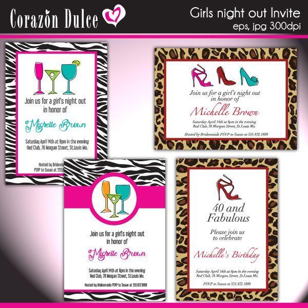 girls night invitation wording