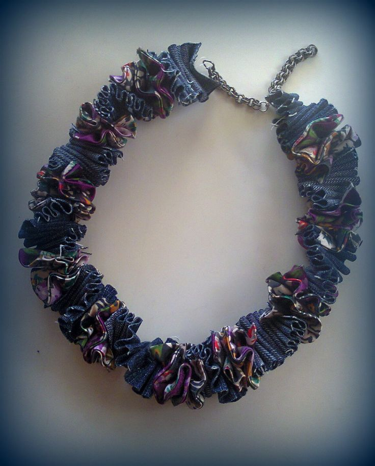 fabric short necklace/KINZ jewelry