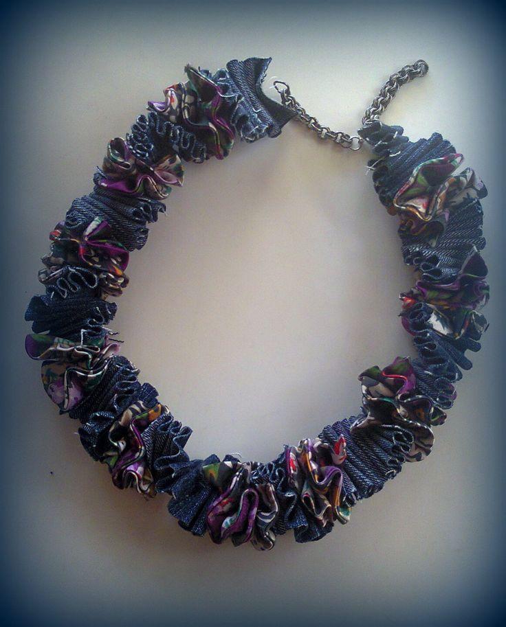 fabric short necklace/KINZ jewelry