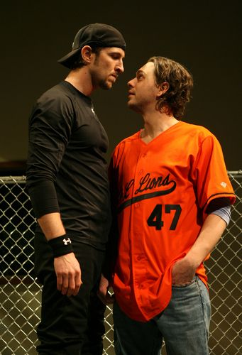 Pablo Schreiber and Tommy Sadoski in Reasons To Be Pretty.