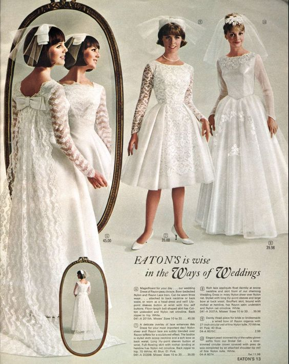 Wedding dresses in the Eaton's catalogue - Spring and Summer, 1965