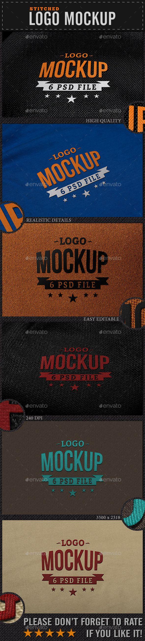 Stitched Logo Mockup