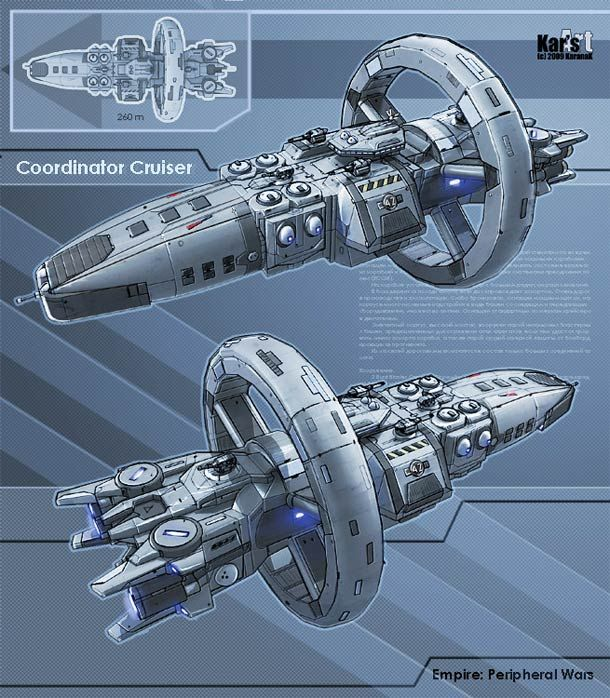 A selection of 25 design concepts of spaceships each more beautiful than the others, conceived and designed the Russian illustrator KaranaK, specialized in conc