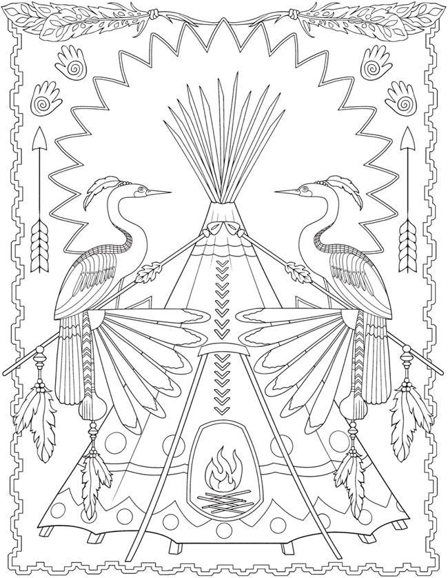 creative haven native american designs coloring book  5