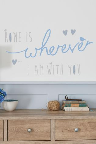 Home Is With You Wall Sticker from Next
