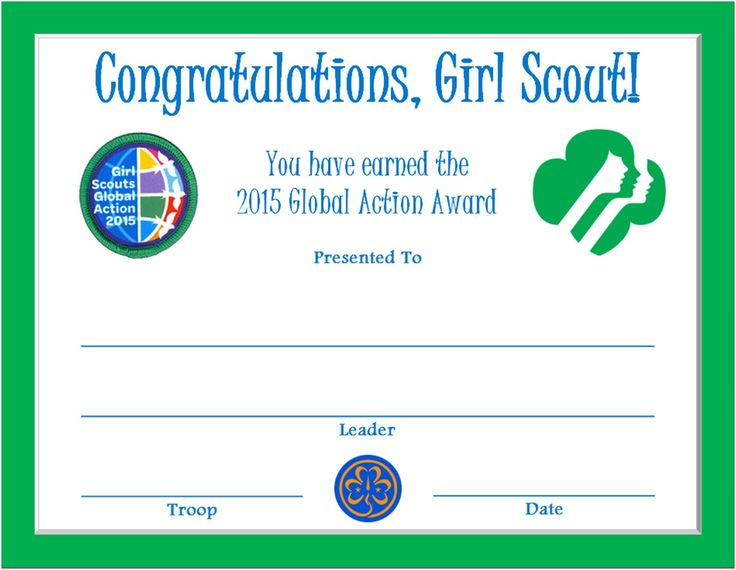 232 best girl scout certificates images on pinterest brownie 2015 global action award certificate yelopaper Choice Image