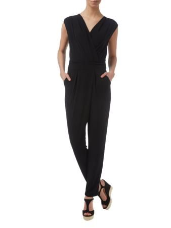 ESPRIT COLLECTION Jumpsuit aus Jersey in Wickeloptik in Schwarz | FASHION ID Online Shop
