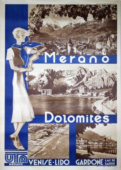 Merano Dolomites Venice Lido Lake Garda Italy  by PosterTeam