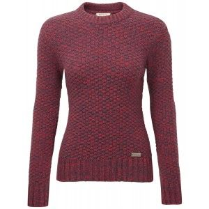 Barbour Ladies' Balby Sweater – Red LKN0424RE32   Country Attire