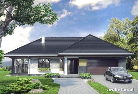 Projekt+domu+Tymoteusz+G2+-+przestronny+dom+parterowy,+z+4+pokojami+i+garażem+dwustanowiskowym+ceramika+-+Archeton.pl