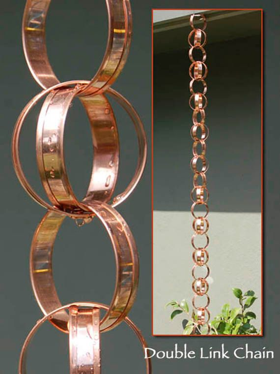 Hey, I found this really awesome Etsy listing at https://www.etsy.com/listing/203143310/double-link-rain-chain-total-length