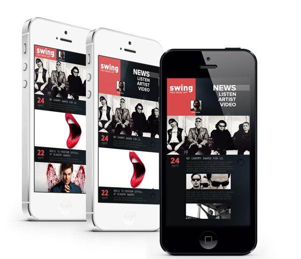 iphone Music App. Concept by Enes Danış, via Behance