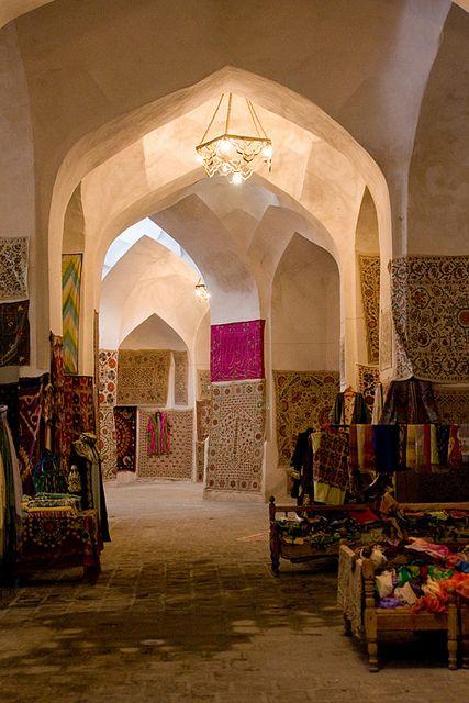Traditional covered bazaars and bathhouses, Bukhara (Buxoro, Бухоро, بُخارا), Uzbekistan (O'zbekiston, Ўзбекистон) by Loïc BROHARD, via Flickr
