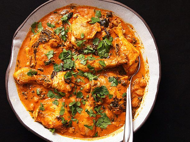 Easy 30-Minute Pressure Cooker Chicken and Chickpea Masala   Serious Eats : Recipes
