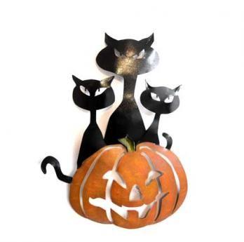 Trio Gatos Calabaza 70 cm H x 50 cm W $160.000