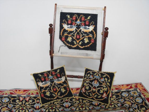 KIT for miniature Needlework stand with William Morris tapestry (you make the stand and the tapestry)  $39