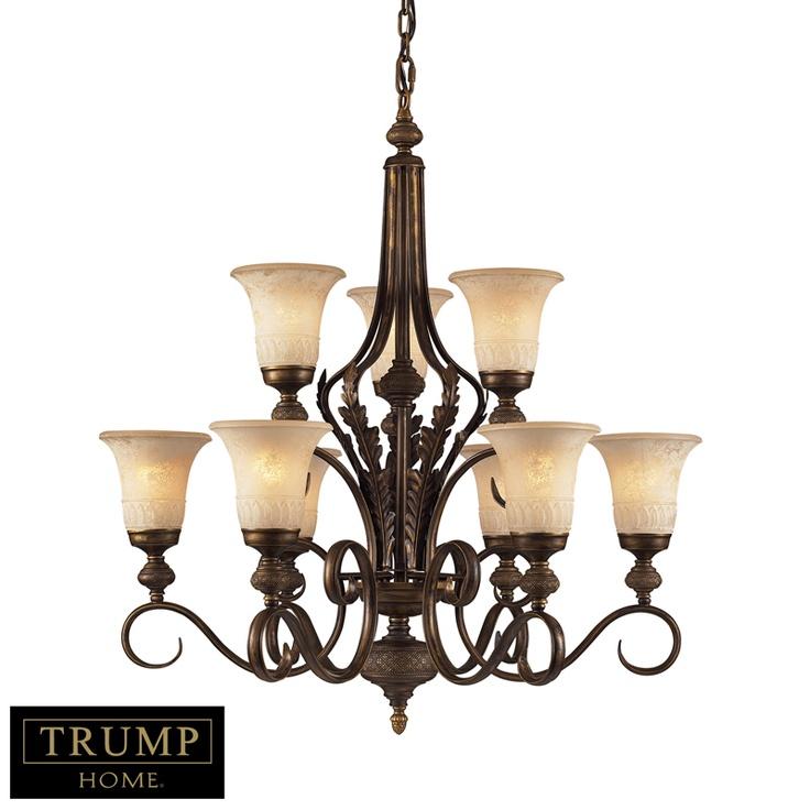 Elk 2480 6 3 Trump Home 9 Light Chandelier In A Weathered Umber Finish