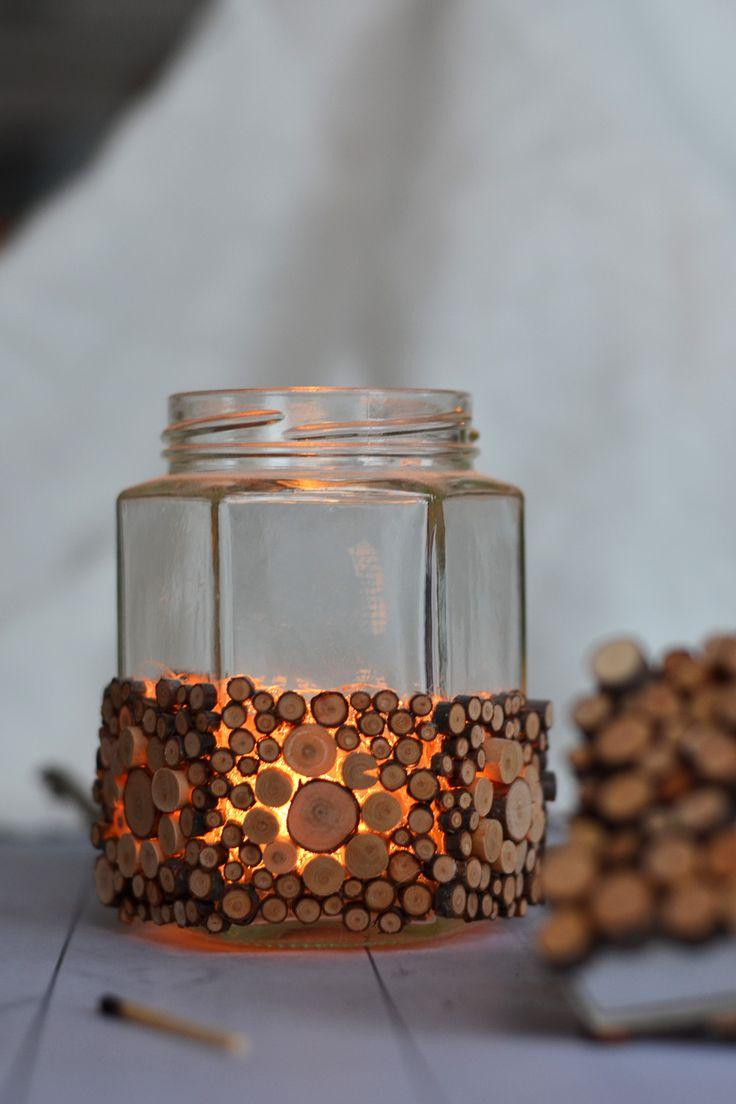Ljuslykta av återbrukad glasburk - Diagnos:Kreativ #återbruk #ljuslykta