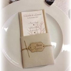 Menu table mariage original, nature, kraft, toile de jute