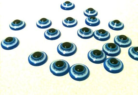 Nazar   Evil Eye Glass Beads 20 pieces by babybaharcollection, $3.75