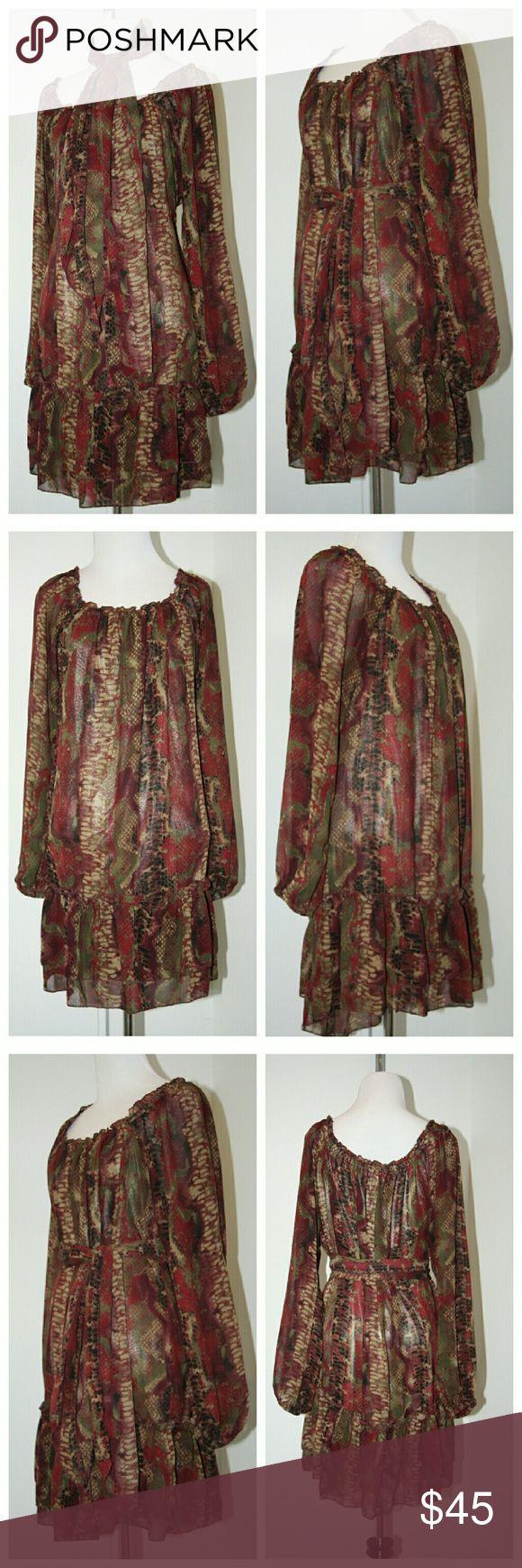 American Rag dress American Rag dress Size L EUC  Sheer sleeves Fully lined body American Rag Dresses Mini
