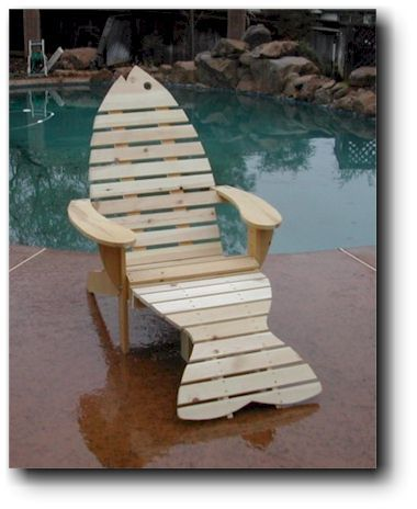 Adirondack Chair Plans Adirondack fish chair
