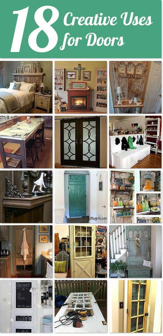 18 creative uses for old doors :: Hometalk