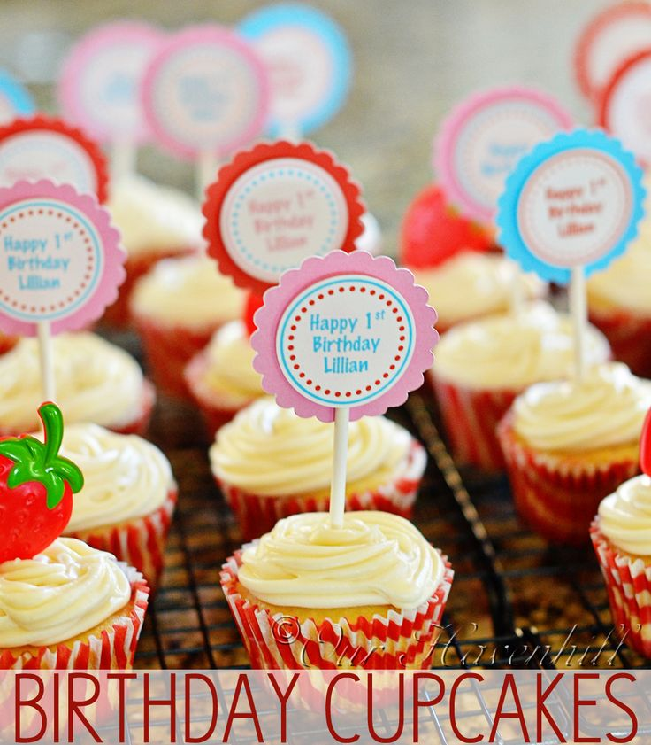 Vanilla Birthday Cupcakes Ingredients: 3/4 Cup Sugar 1/2 Cup (1 Stick) Softened Butter 2 Eggs 2