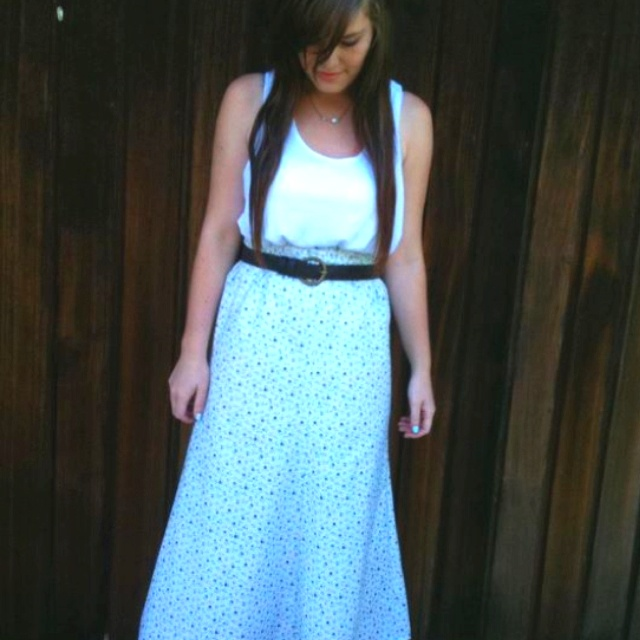 Handmade maxi skirt.