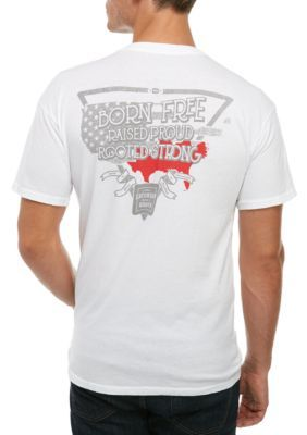 Saturday Down South Men's Short Sleeve Tee South America - White - 2Xl