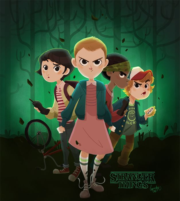 Stranger Things Fan art - by LaPendeja