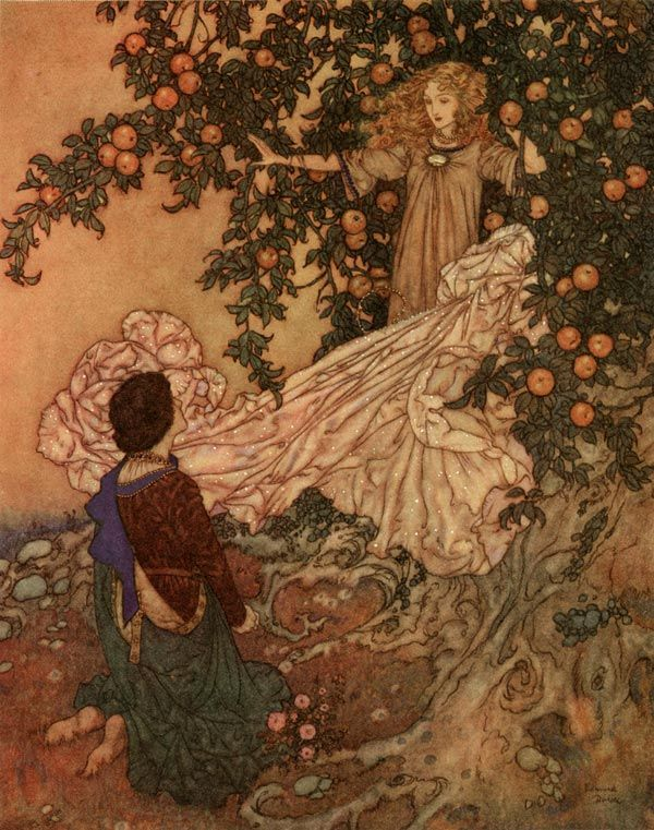 Edmund Dulac Illustration    apples - nice one for a Sebastopudlian