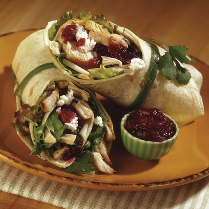Spicy Cranberry Turkey Wrap   Recipe   Turkey wraps ...