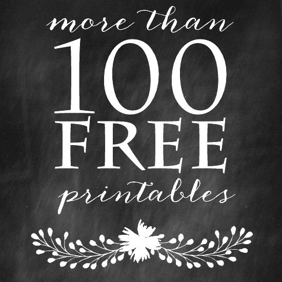 A collection of more than 100 free printables to use for DIY wall art, screensavers, cards, crafts and more!