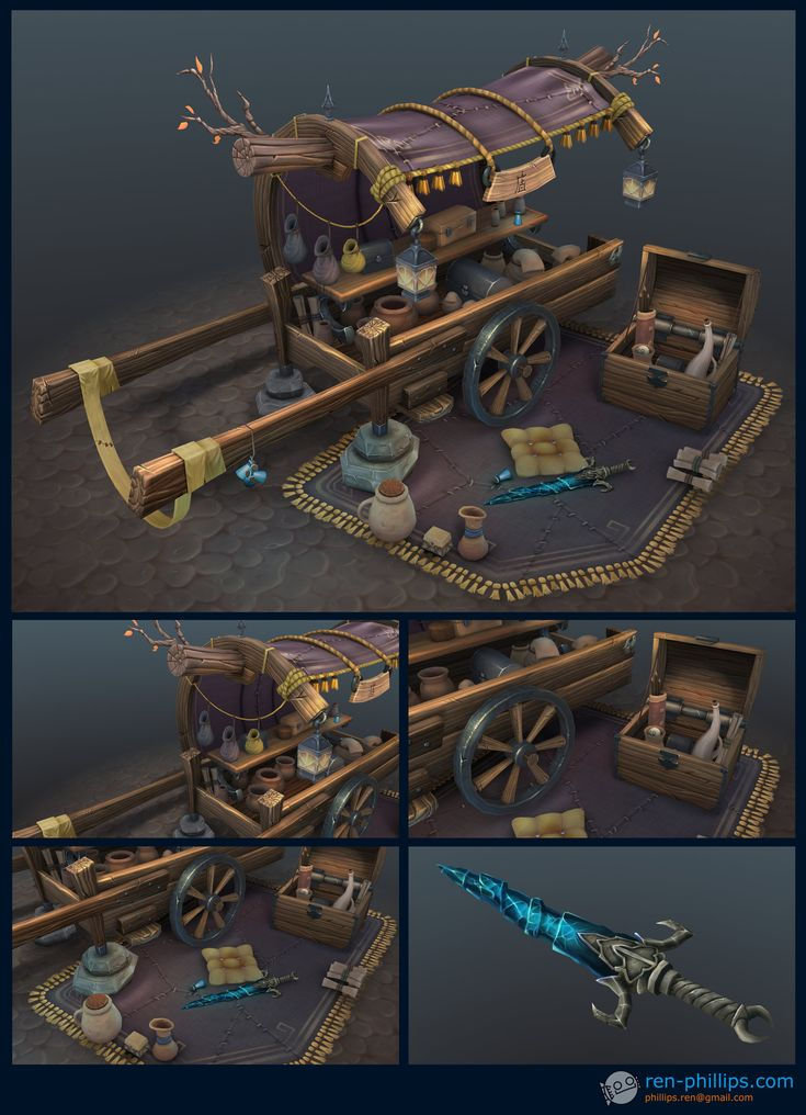 ArtStation - Item Cart, Ren Phillips