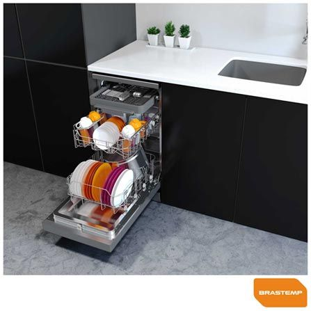 Lava Louças Brastemp Espelhada de embutir - BLF10 Medidas: 84,5 (A) x 44,8 (L) x 60 (P) Fornecedor: Brastemp / Fast Shop