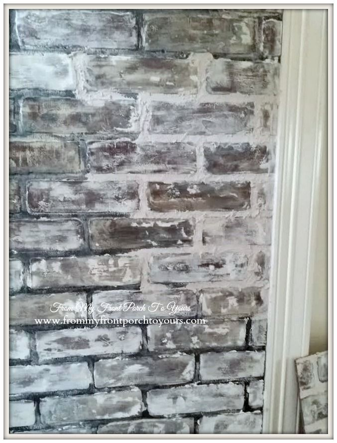Diy Faux Brick Wall Tutorial Using Chalk Paint Paint