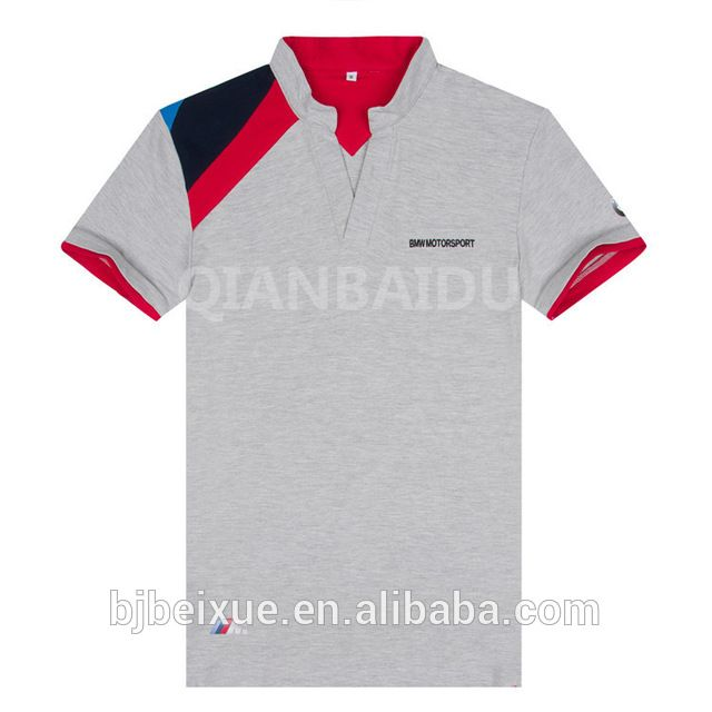 Source cotton lycra single bead BWM MEN buttonless polo shirt custom t shirt printing custom logo polo shirts on m.alibaba.com