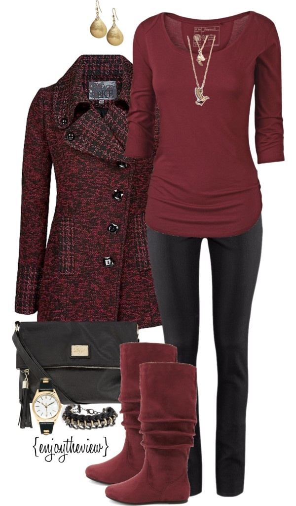"""Blood Red contest entry #2 (total cost $216)"" by enjoytheview on Polyvore"