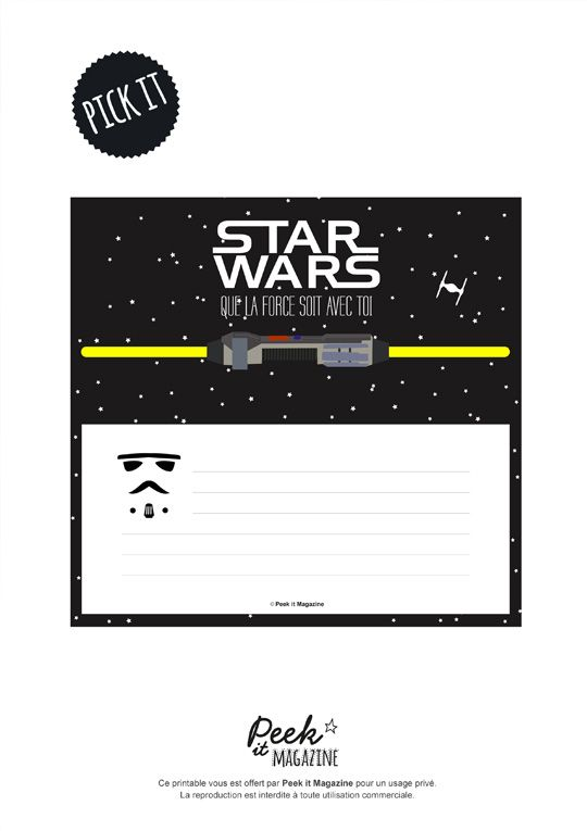 Invitation Kids Party Star Wars