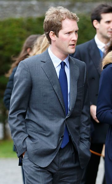 George Percy, Earl Percy of Northumberland, attends a memorial service for Miles Frost at Arundel Cathedral on February 5, 2016 in Arundel, England.