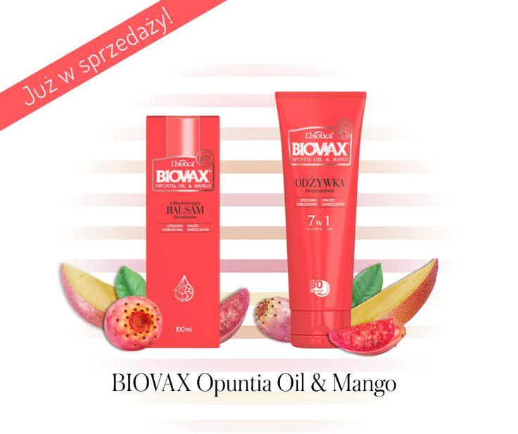 BIOVAX Opuntia Oil & Mango #nowość do włosów zniszczonych