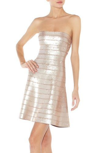Fun & Flirty the:  Mellie Sequined Strapless Bandage Dress  HerverLeger.com