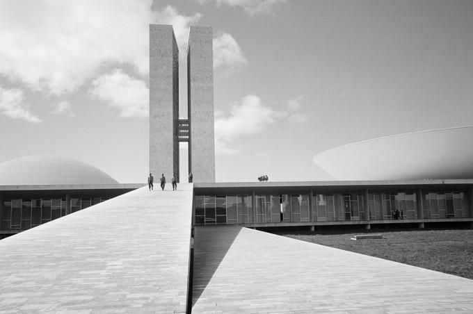 "Brasilia, 1961.""Lucien Hervé, despite himself"", by Gerrit Messiaen. Click above to see larger image."