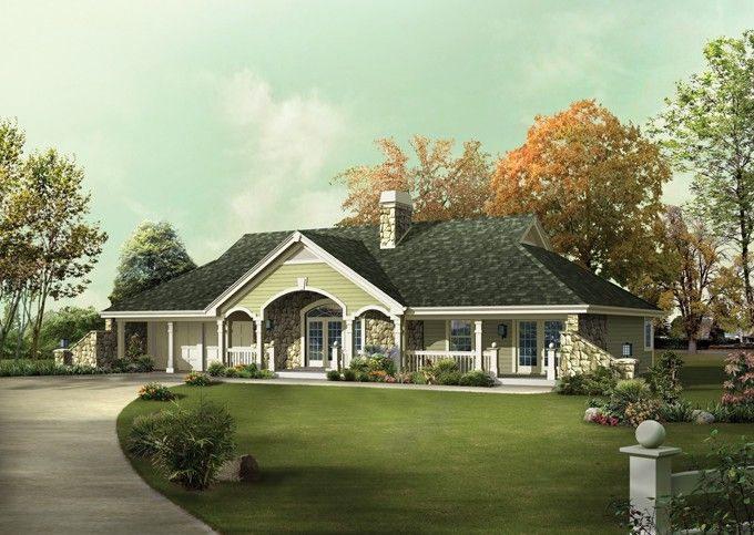 House Plans Dreams House Country Style Ranch Home Houseplanscom
