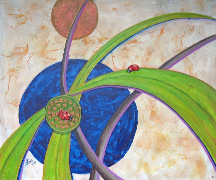 Ladybird II. One of two pieces painted in acrylic 1800 mm x 1000   mm.